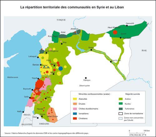 Répartition des nombreuses communautés syriennes