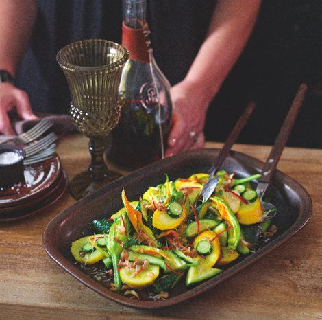 Zucchini with Garlic, Chilli and Lemon - eatlove - Matt Moran