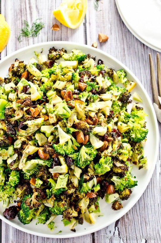 Roasted Broccoli Salad with Lemons and Almonds                                                                                                                                                                                 More