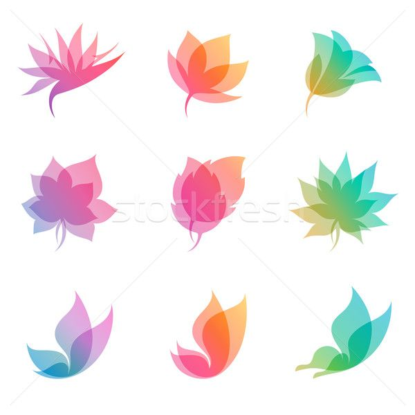 Foto stock: Natureza · vetor · logo · design · ícone · negócio