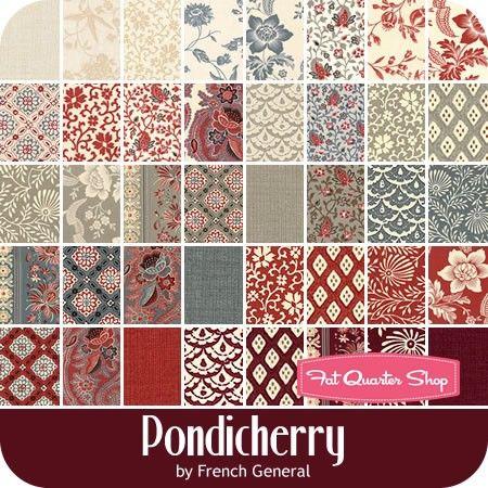 Pondicherry MINI Charm Pack Reservation French General for Moda Fabrics - Mini Charm Packs | Fat Quarter Shop