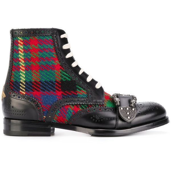 Gucci Queercore brogue boots (21.777.825 IDR) ❤ liked on Polyvore featuring men's fashion, men's shoes, men's boots, black, mens black lace up boots, mens black brogue boots, mens side zip boots, mens lace up boots and gucci mens boots