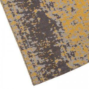 Vloerkleed vintage geel gemaakt van katoen label 51