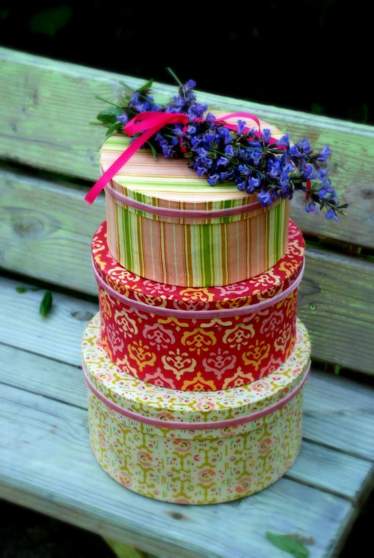 Craft hat boxes - Paper Mache Hat Boxes