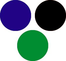 Royal Blue and Green Clear Winter Color Palette