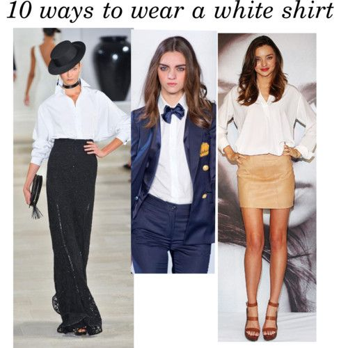 10 white shirt outfits for mornings when you look for inspiration
