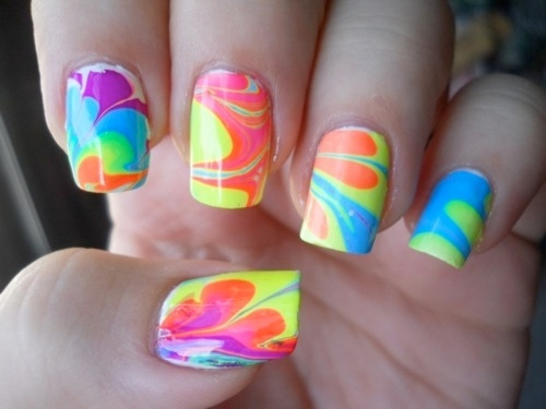 marble nails- party idea for girls