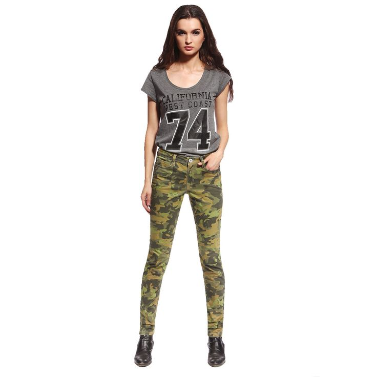 Stitches Anladia Women's Casual Camouflage Skinny Jeans