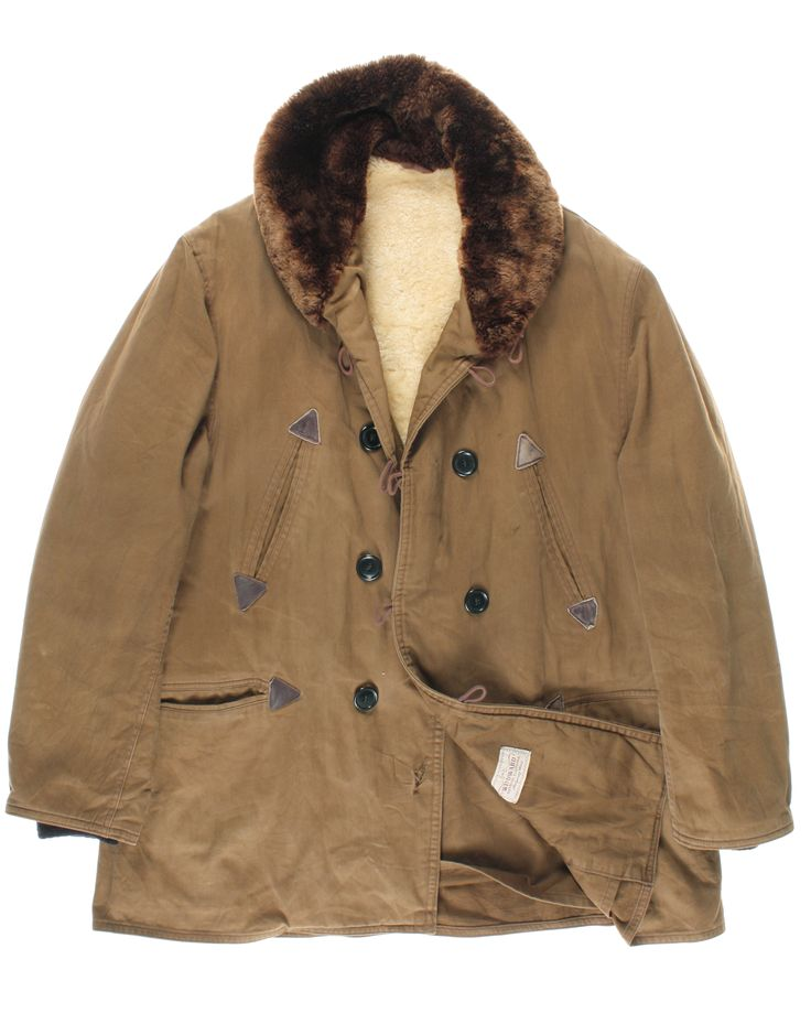 #WINDWORD #windwordcoat (sheepskin collar and lining) 50s #vintagecoat #madeinused http://www.madeinused.com/product-category/man/coats/page/2/