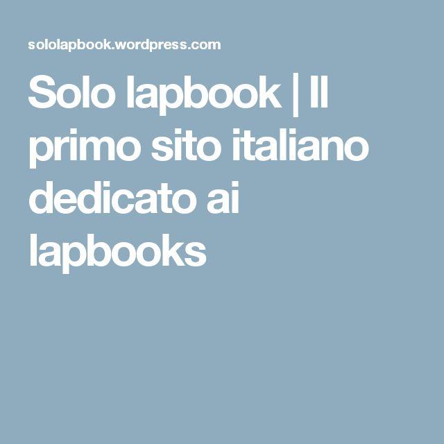 Solo lapbook | Il primo sito italiano dedicato ai lapbooks