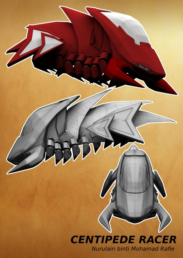 3D -Basic Flat Color CPede-Racer by seantriana on DeviantArt