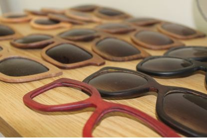 Your choice of lenses, from our wide range of high-quality, 100% UVA & UVB protective lenses in a variety of colours, are finally applied to the frame to complete your personalised pair of DOUBLE O.