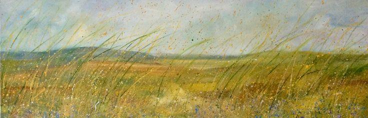 "Irish Landscape ""Late July""  Oil on Canvas 90x30cms"