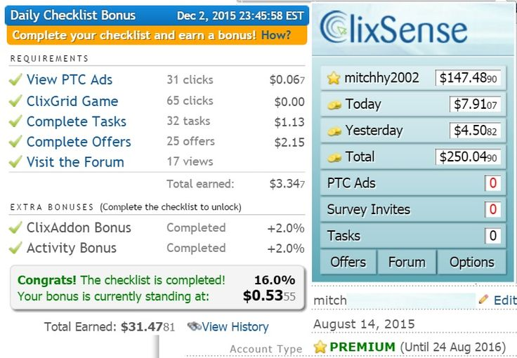 My earnings for today not bad 7$ and Surveys, task and offers. just make sure you complete your daily checklist so you'll get your bonus :)   Find out how I did this. Click the link below and join for free  http://csl.ink/Wqc  enjoy earning guys!