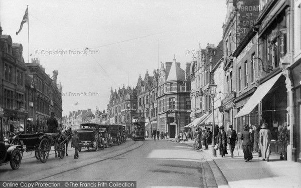 Reading, Broad Street 1913, from Francis Frith