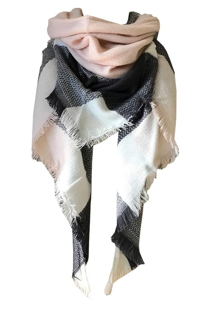 ed6fb187e Wander Agio Womens Warm Scarf Triangle Shawls Large Scarves Stripe Plaid  Fich... #fashion #clothing #shoes #accessories #womensaccessories  #scarveswraps ...