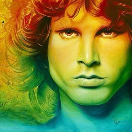 PORTRAIT POP ART...! Le visage de Jim Morrison..!