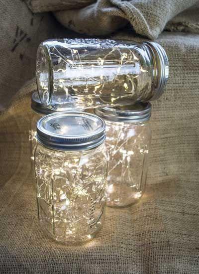 centre de table guirlande lumineuse bocal verre