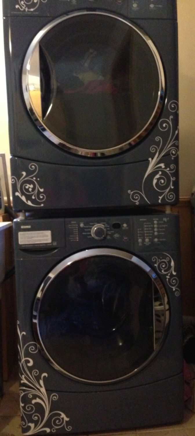 Biscuit colored washer and dryer - 25 Best Ideas About Painted Washer Dryer On Pinterest Small Laundry Area Utility Room Inspiration And Laundry Room