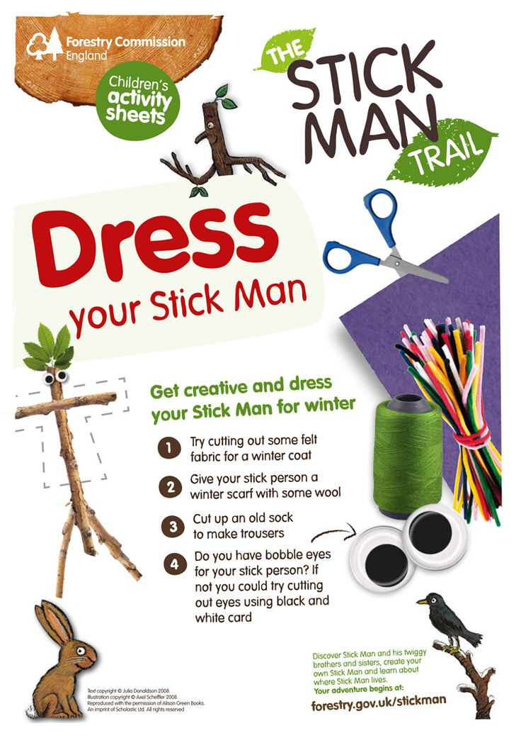 Dress your Stick Man character! http://www.forestry.gov.uk/stickman