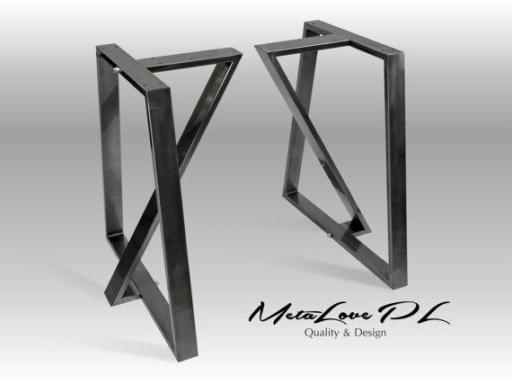 28 TEDOZ fer 80,20 pieds de Table, hauteur 26 - 32 SET(2)  Un ensemble comprend deux éléments identiques   MENSURATIONS : Largeur: 70 cm - 28» Hauteur: 72 cm - 28,8  MATÉRIEL: tube carré de 80 x 20 mm  Si vous allez à l'ordre de base non standard ou les jambes, s'il vous plaît écrire quelle dimension vous souhaitez changer: A, B, C, etc.. Parmi les photos que nous avons joint à la vente aux enchères, est le dessin qui contient ces symboles: A, B, C, etc..    Nos produits sont…