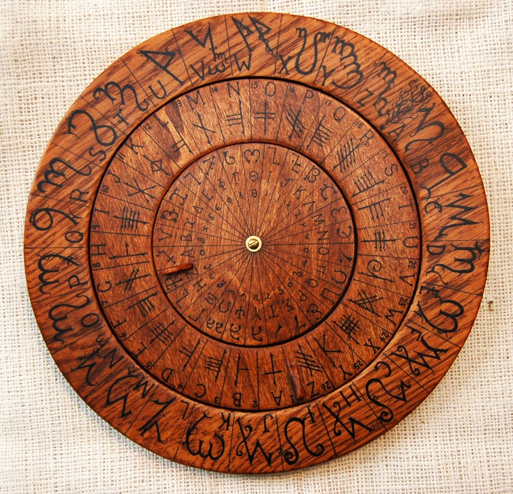 Celtic Calendar Wood : Cypher wheel cipher disk theban ogham enochian celtic