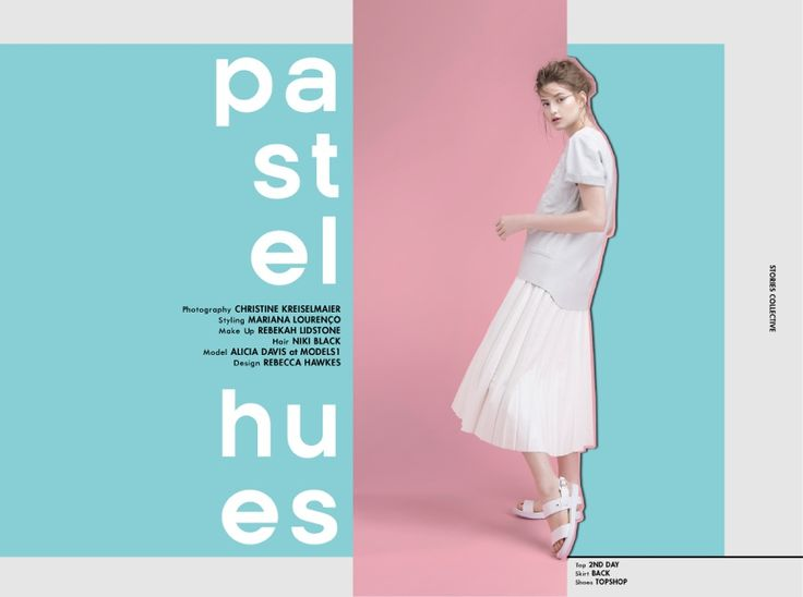 Stories Collective / Pastel Hues / Photography Christine Kreiselmaier / Styling Mariana Lourenço / Make up Rebekah Lidstone / Hair Niki Black / Model Alicia Davis / Design Rebecca Hawkes #fashion #editorial #storiescollective #minimalist #pastel #back #topshop