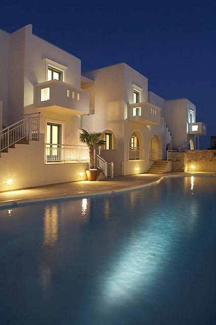 Lagos Mare Hotel - cubistic Cycladic architecture. Enquiries aegean@thesaurus.gr