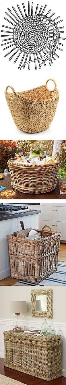 Basket Weaving O Que é : Las mejores ideas sobre cesta peri?dico en