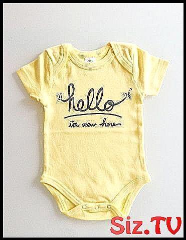 Hallo ich bin 39 m neu hier geschlechtsneutral baby onesie 0-3 mo neugeborenen butter gre …   – Baby Clothing