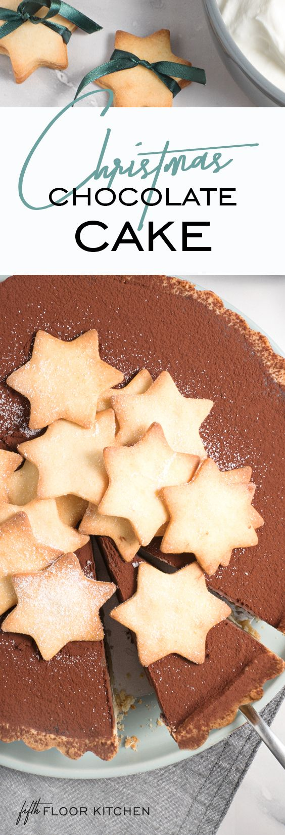 Amazing refined sugar free Christmas chocolate cake for Christmas eve or Boxing day!