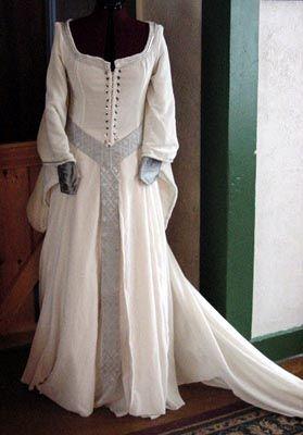 Medieval Wedding Dress Midevil Wedding Gown Renaissance