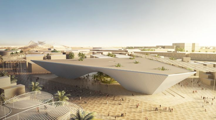 Foster, BIG and Grimshaw unveil designs for Expo 2020.UAE. The winners of the competition to design pavilions for Expo 2020 Dubai have been announced. Foster + Partners, BIG and Grimshaw Architects have won a global competition to design a trio of pavilions for the 2020 Expo in Dubai. The pavilions will form the centrepiece for the 438-hectare Expo site in the port town of Jebel Ali –located between Abu Dhabi and Dubai.