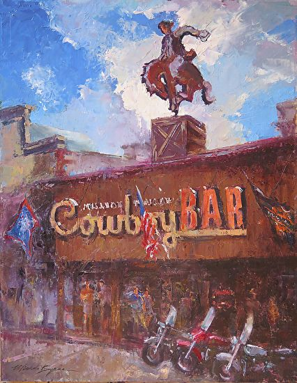 Michele Byrne - Million Dollar Cowboy Bar- Oil - Painting entry - November 2016 | BoldBrush Painting Competition