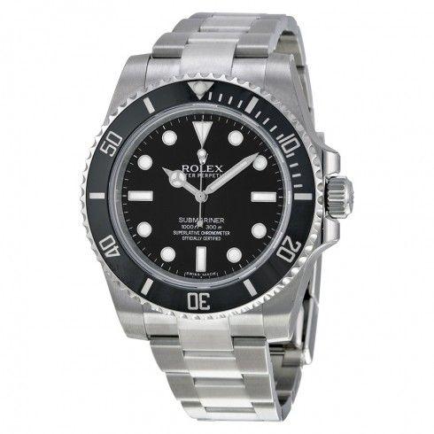 Rolex 114060 Submariner quadrante nero orologio automatico da uomo in acciaio inossidabile Cassa in acciaio con bracciale oyster in acciaio inossidabile.