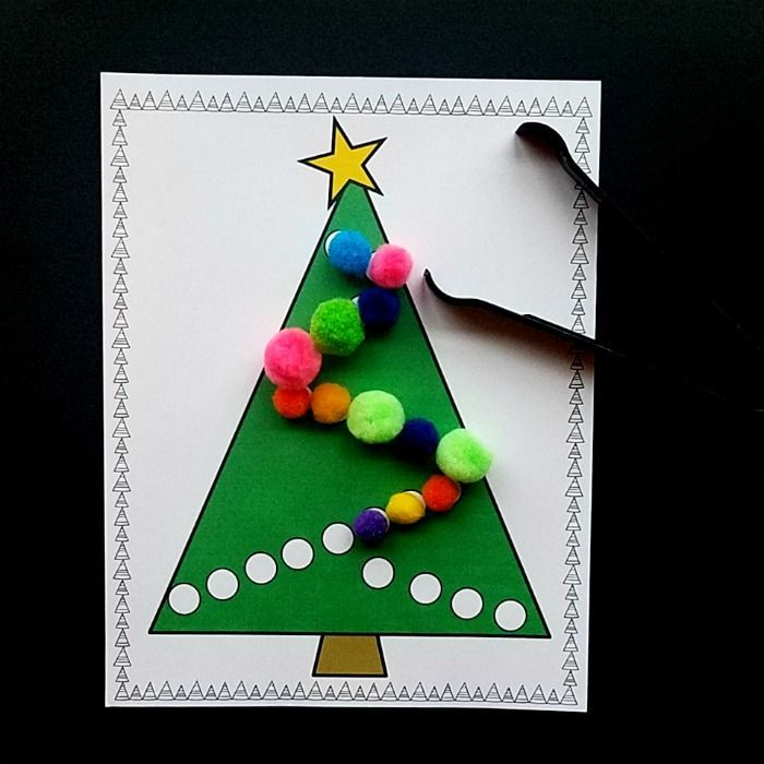 Ornament Stamped Christmas Tree Craft Preschool Christmas Crafts Christmas Crafts Christmas Tree Crafts