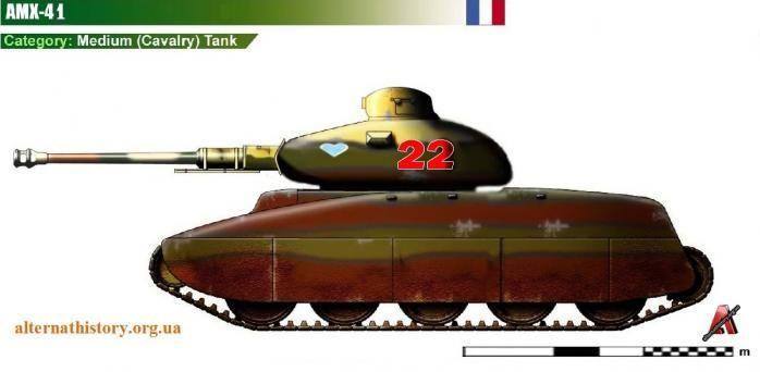 Танки АМХ-41 и АМХ-44 мира Франции воюющей на стороне Германии (МФГ)