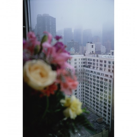 when i saw this picture i was so happy. i had already taken one just like it, without having seen this. made me think, great minds!! Nan Goldin - View from my window, Roosevelt Hospital, NYC