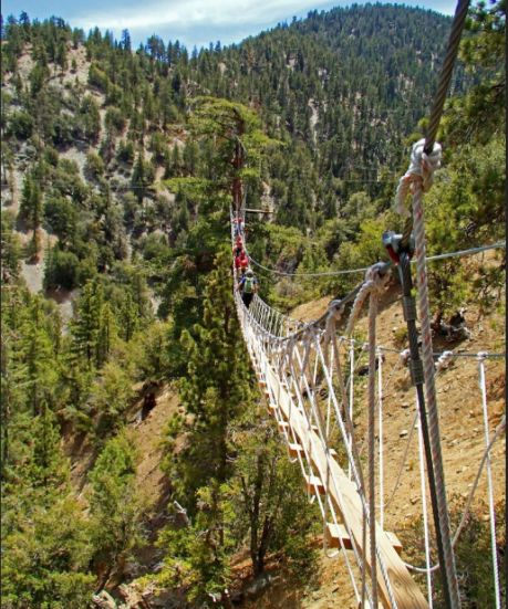 Wrightwood, canopy tour with Big Pines Zipline Tours. The panoramic view of the San Bernardino Mountains is breathtaking. more CA places...
