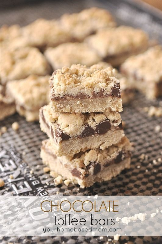Chocolate Toffee Bars - when only chocolate and toffee will do!!