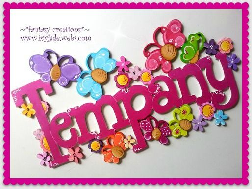 hand made wooden personalized door or wall signs .    fantasy creations  ~  www.ivyjade.webs.com