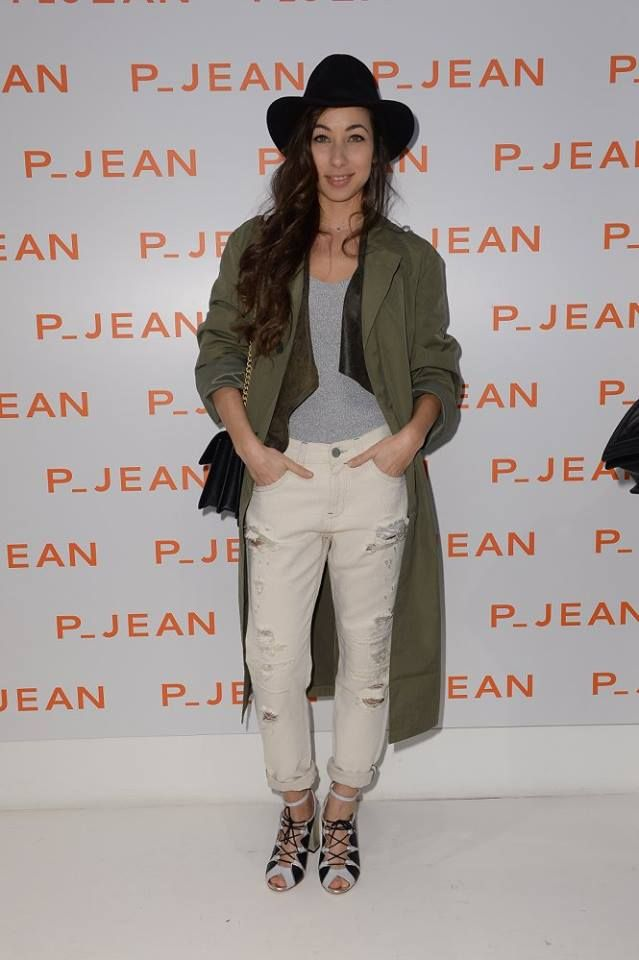 Tess Masazza at p_jean SS17 presentation at PINKO Montenapoleone store in Milan during Fashion Week