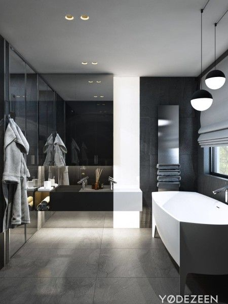 http://leemwonen.nl/interieur-i-badkamers-lookbook-donkere-chique-badkamers/ #bathroom #badkamer #bath #bad #bathing #design #dark #colors #blackandwhite #chique #stijlvol #yodezeen #interior #designers