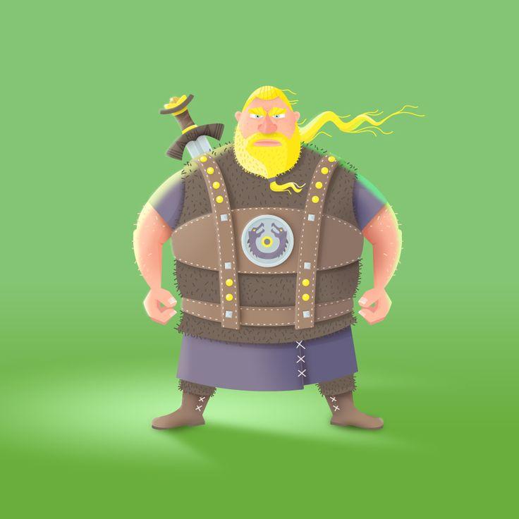 """Character Design Viking """"Ragnar der Wikinger"""" von ELISABETH DEIM"""