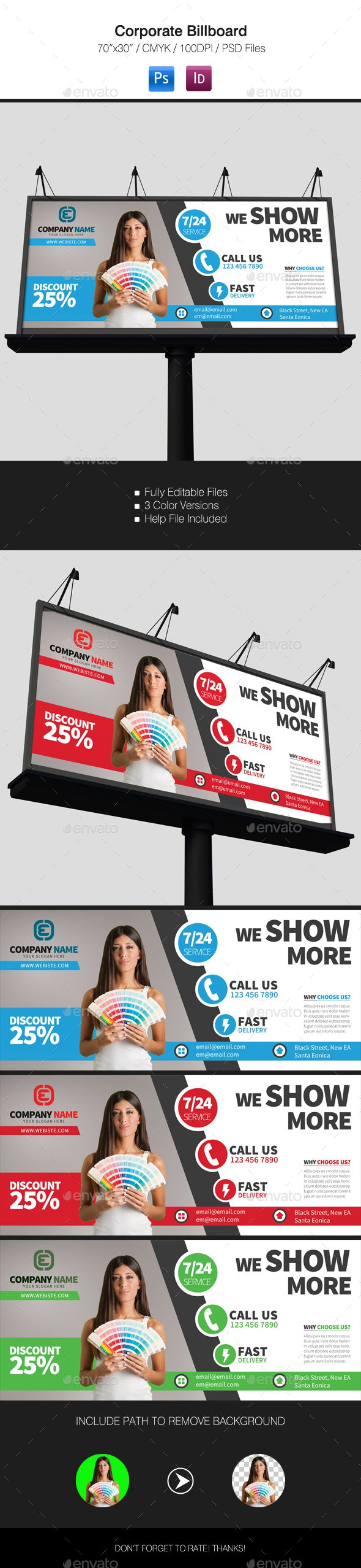 Corporate Billboard #design Download: http://graphicriver.net/item/corporate-billboard/11815331