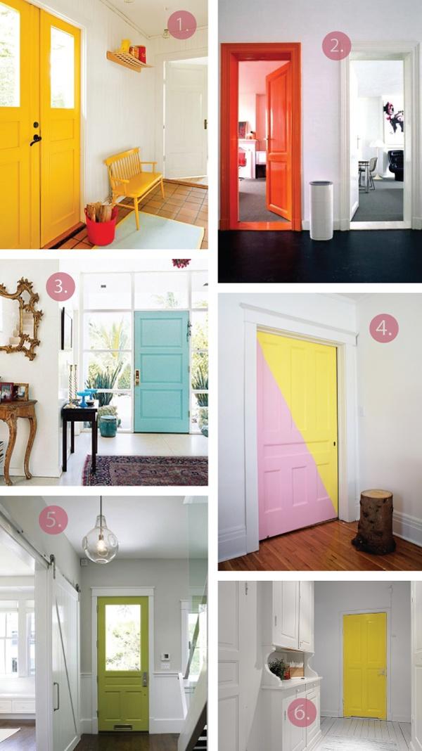 Bright interior doors - oh hello creative blog