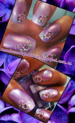 Manicura violeta!