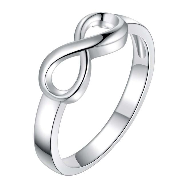 Гладкая номер 8 посеребренная Кольцо Мода Ювелирные Кольца Женщины и Мужчины,/PDIOZFXR EUJSKFHN