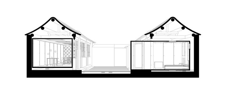 Image 18 of 28 from gallery of The Courtyard House Plugin / People's Architecture Office. Drawing Section