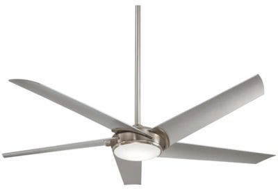 Minka Aire Minka-Aire® Raptor 60-Inch 1-Light Ceiling Fan with Remote Control in Brushed Nickel